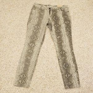 New! Mossimo Snake Print Sz 11/Fit 6 Skinny Pants